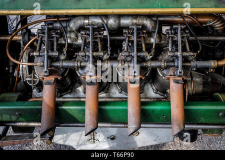 Motor Detail auf die 1913 Monarch Spezielle V8, SF. Rdge Trophy Teilnehmer an der 77. Goodwood GRRC Mitgliederversammlung, Sussex, UK. Stockbild