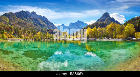 Jasna See, Nationalpark Triglav, Slowenien Stockbild