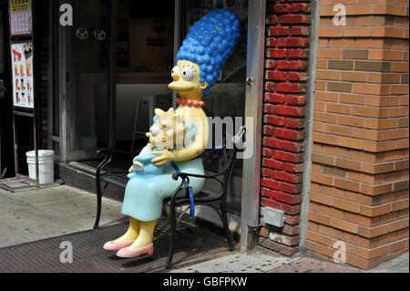 Marge Simpson nyc Stockbild