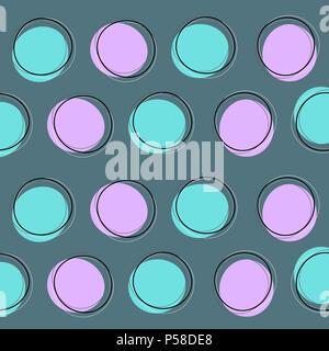 Zusammenfassung Hintergrund mit retro Kreis design Stockbild