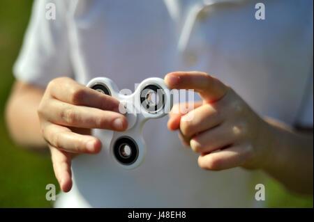 Zappeln Spinner Stockbild