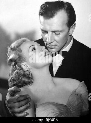 SMART GIRLS DON'T TALK 1948 Warner Bros Film mit Virginia Mayo und Bruce Bennett Stockbild
