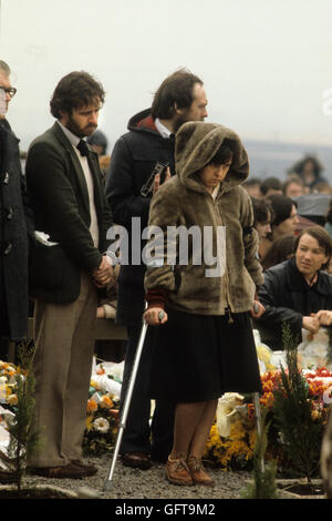 Bernadette Devlin McAliskey, Nordirland im Francis Hughes Beerdigung 1981 Uk 1980 s Die Mühen 80 s UK HOMER Stockbild