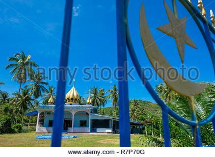 Thailand, Provinz Trang, Ko Sukorn Insel, die Moschee von Ban Tung Dorf Stockbild