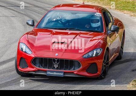2018 Maserati Granturismo MC auf der Demonstration hillclimb laufen am Goodwood Festival 2018 von Geschwindigkeit, Sussex, UK. Stockbild