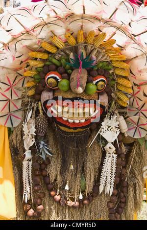 Angebote im Tempel-Zeremonie am Besakih, Mutter Tempel, Bali, Indonesien Stockbild