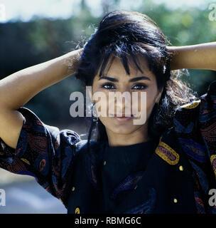 Portrait von kitu Gidwani Lächeln, Indien, Asien Stockbild