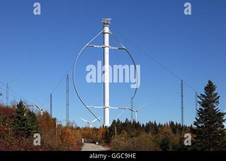 Geographie/Reisen, Kanada, Québec, Chibougamau, Éole, Windkraftanlage mit vertikaler Achse, Chibougamau, Stockbild
