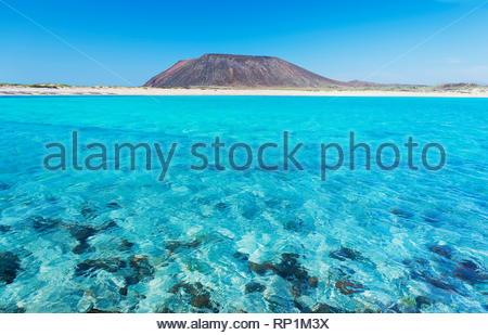 Die Insel Lobos, Fuerteventura, Kanarische Inseln, Spanien Stockbild