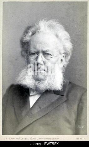 Norwegischer Dramatiker HENRIK IBSEN (1828-1906) über 1898 Stockbild