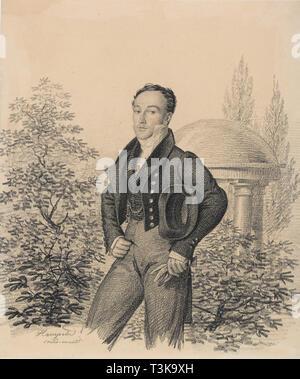 Portrait von Nikolay Alexandrovich Kokoshkin (1792-1873), Anfang der 1820er Jahre. In der Sammlung der Staatlichen Tretjakow-Galerie, Moskau gefunden. Stockbild
