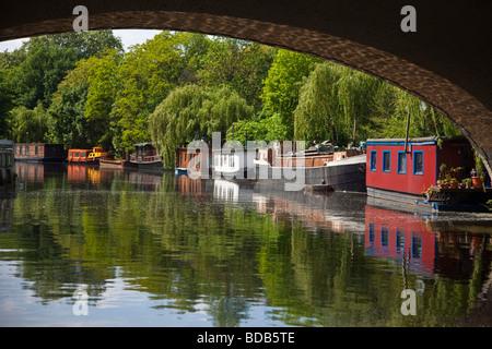 Hausboote in Tiergarten Berlin Deutschland Stockbild