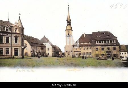 Kirchen in Großschirma, Marktplätze im Landkreis Mittelsachsen, 1901, Landkreis Mittelsachsen, Siebenlehn, Marktplatz, Deutschland Stockbild