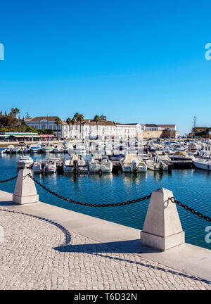 Marina in Faro, Algarve, Portugal Stockbild