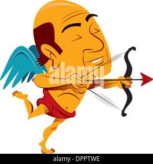 Ein Engel mit Pfeil und Bogen Stockbild