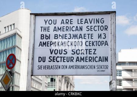 Checkpoint Charlie, Berlin, Deutschland Stockbild
