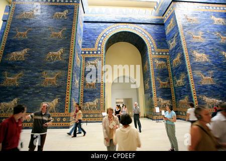 Ischtar-Tor, Pergamon Museum, Berlin, Deutschland, Europa Stockbild