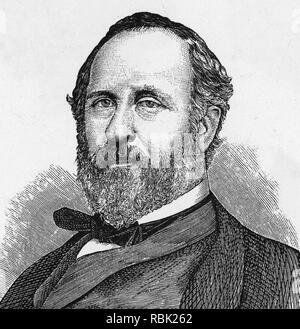 WILLIAM TWEED (1823-1878) amerikanischer Politiker, der Tammay Halle für mehrere Jahre lief Stockbild
