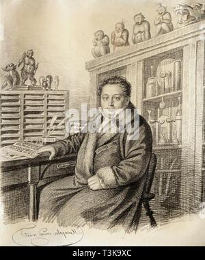 Portrait von Baron Paul Ludwig Schilling von Cannstatt (1786-1837), vor 1822. In der Sammlung der Staatlichen Tretjakow-Galerie, Moskau gefunden. Stockbild