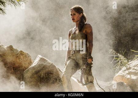 Erscheinungsdatum: März 16, 2018 Title: Tomb Raider Studio: mgm Regie: Roar uthaug plot: Lara Croft, die ihre Stockbild