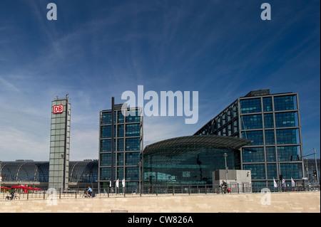 Der Berliner Hauptbahnhof Stockbild