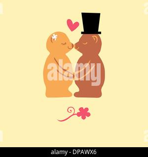 Zwei Bären küssen Stockbild