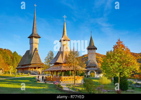 Die hölzerne Kirche, Barsana Kloster, Banat, Rumänien, UNESCO Stockbild