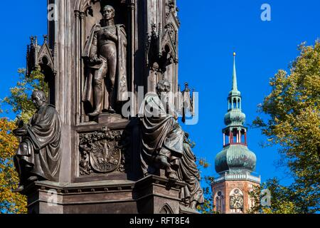 Die rubenow Denkmal, vor der Universität, in Rubenow Square, Greifswald, Mecklenburg-Vorpommern, Deutschland, Europa Stockbild