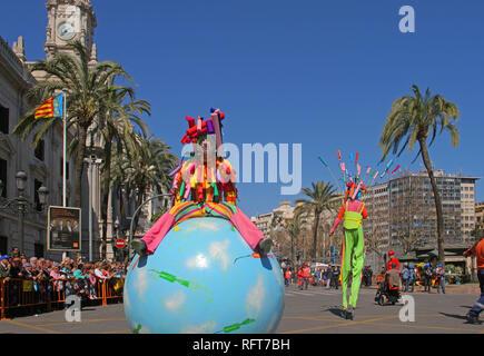 Die Falles (Las Fallas) Festival, UNESCO immaterielles Kulturerbe, Valencia, Valencia, Spanien, Europa Stockbild
