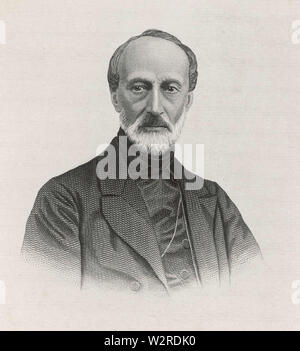 GIUSEPPE MAZZINI (1805-1872) italienischer Politiker und Journalist Stockbild