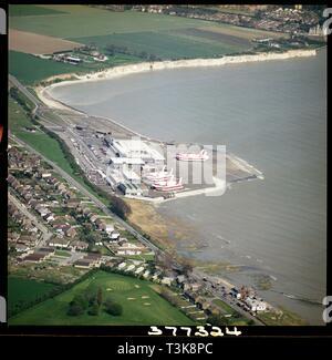 Hovercraft Port an Pegwell Bay, Ramsgate, Kent, 1979. Die hoverport an Pegwell Bay eröffnet im Jahr 1969. Sie geschlossen in 1987 und die Gebäude auf dem Gelände wurden in der Folge abgerissen. Stockbild