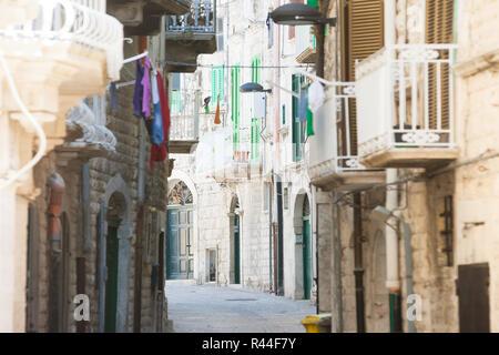 Molfetta, Apulien, Italien - Leben wie die Bürger von Molfetta im Mittelalter Stockbild