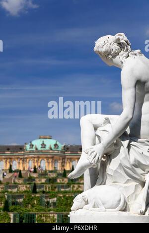 Deutschland, Berlin, Potsdam, Schloss Sanssouci (Schloss Sansouci) Stockbild