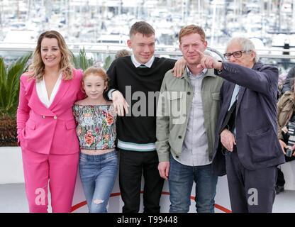 Kris Hitchen, Rhys Stein, Katie Proctor, Debbie Honeywood, Ken Loach, 2019 Cannes Stockbild