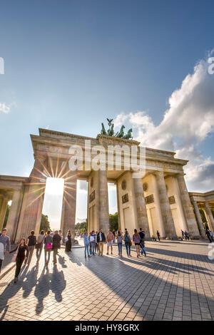 Brandenburger Tor, Pariser Platz, Berlin-Mitte, Berlin, Deutschland Stockbild