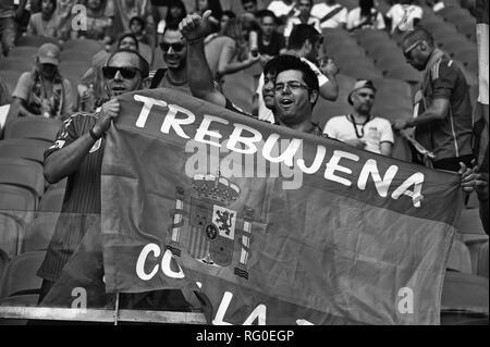 Spanische Fans, FIFA WM 2014, Salvador da Bahia, Brasilien # Stockbild