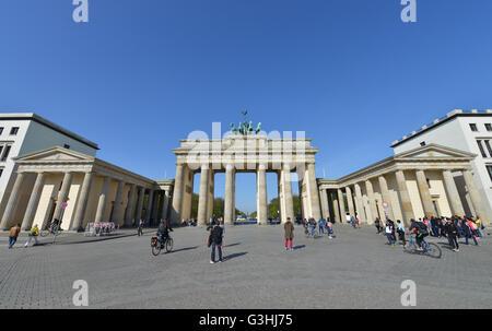 Brandenburger Tor, Pariser Platz, Mitte, Berlin, Deutschland Stockbild