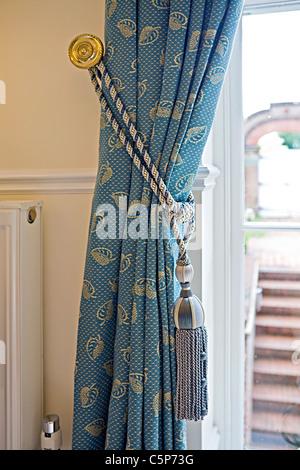 Nahaufnahme eines traditionellen Vorhang Aufenthalt Stockbild