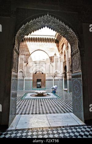 Medersa Attarine, Fes, Marokko Stockbild