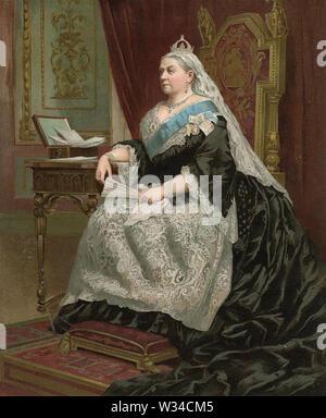 Königin Victoria (1819-1901) britische Monarch 1887 Stockbild
