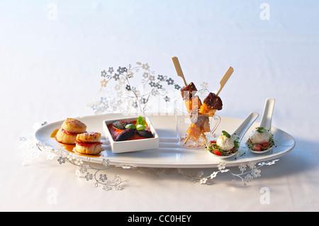 Kochen gesalzen Vorspeise Stockbild