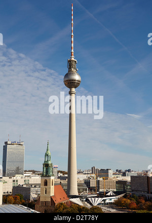 TV Tower, Berlin, Deutschland, Europa Stockbild