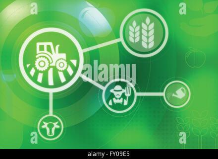 Anschauliche Darstellung der Landwirtschaft Stockbild