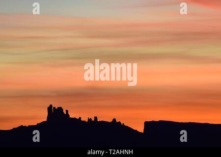 Bunte HIMMEL OVERPROFESSOR TAL, Moab, UT, USA Stockbild