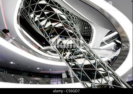 Zeil Galerie, moderne Architektur, kreativ, Frankfurt Am Main, Hessen, Deutschland, Europa Stockbild