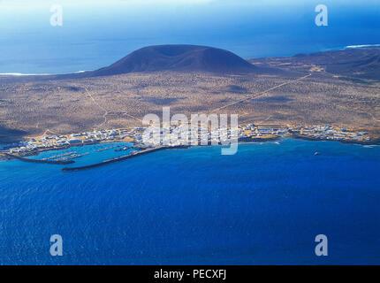 Insel La Graciosa, Blick von El Mirador. Chinijo Inseln, Kanarische Inseln, Spanien. Stockbild