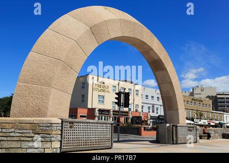 Schleusen, Weston-super-Mare, Somerset, England, Vereinigtes Königreich, Europa Stockbild