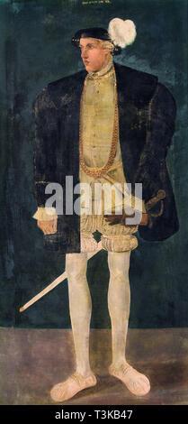 Portrait von Johann V (Hanns) von und zu Liechtenstein. In der Sammlung von Telc Schloss gefunden. Stockbild