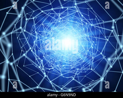 Netzwerk-Verbindungen - 3d Illustration abstrakt Stockbild