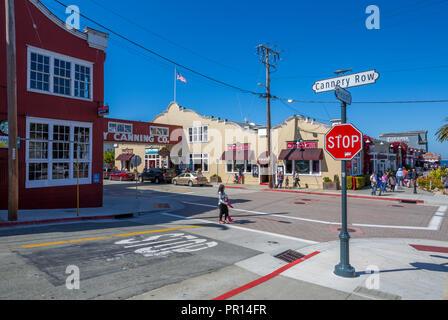 Cannery Row, Monterey Bay, Halbinsel, Monterey, Kalifornien, Vereinigte Staaten von Amerika, Nordamerika Stockbild